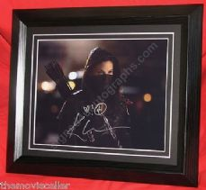 "KATRINA LAW SIGNED ""ARROW""  Nyssa al Ghul  FRAMED CERTIFIED AUTHENTIC  TV Series"